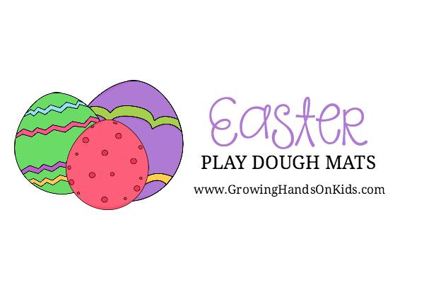 FREE PRINTABLE Easter Play Dough Mats.
