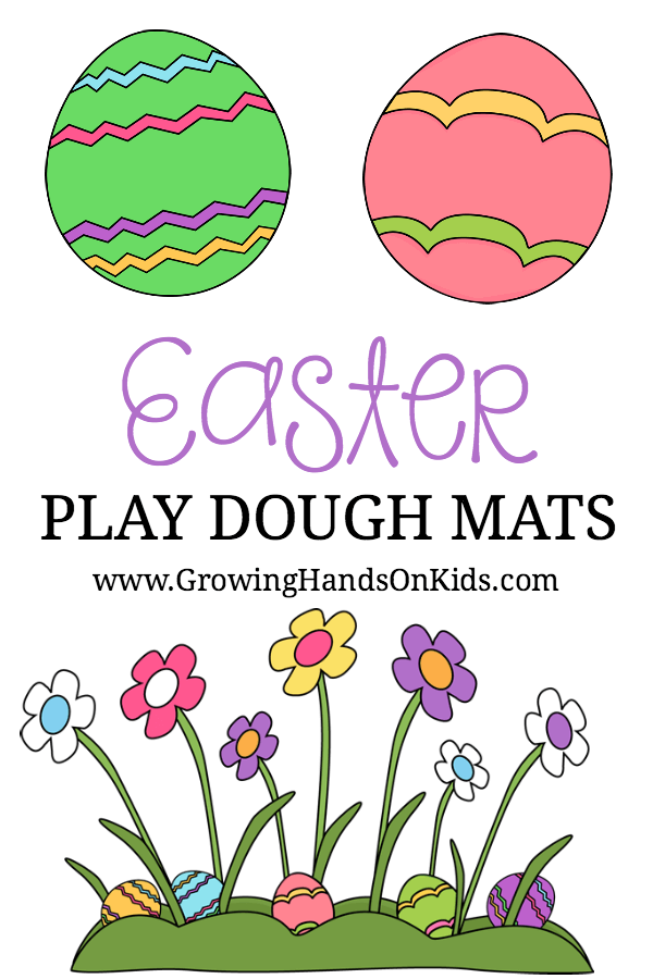 FREE PRINTABLE Easter Play Dough Mats.