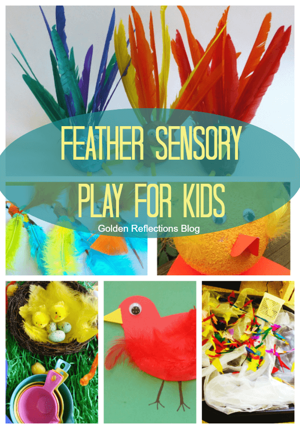 F Is For Feather Sensory Play