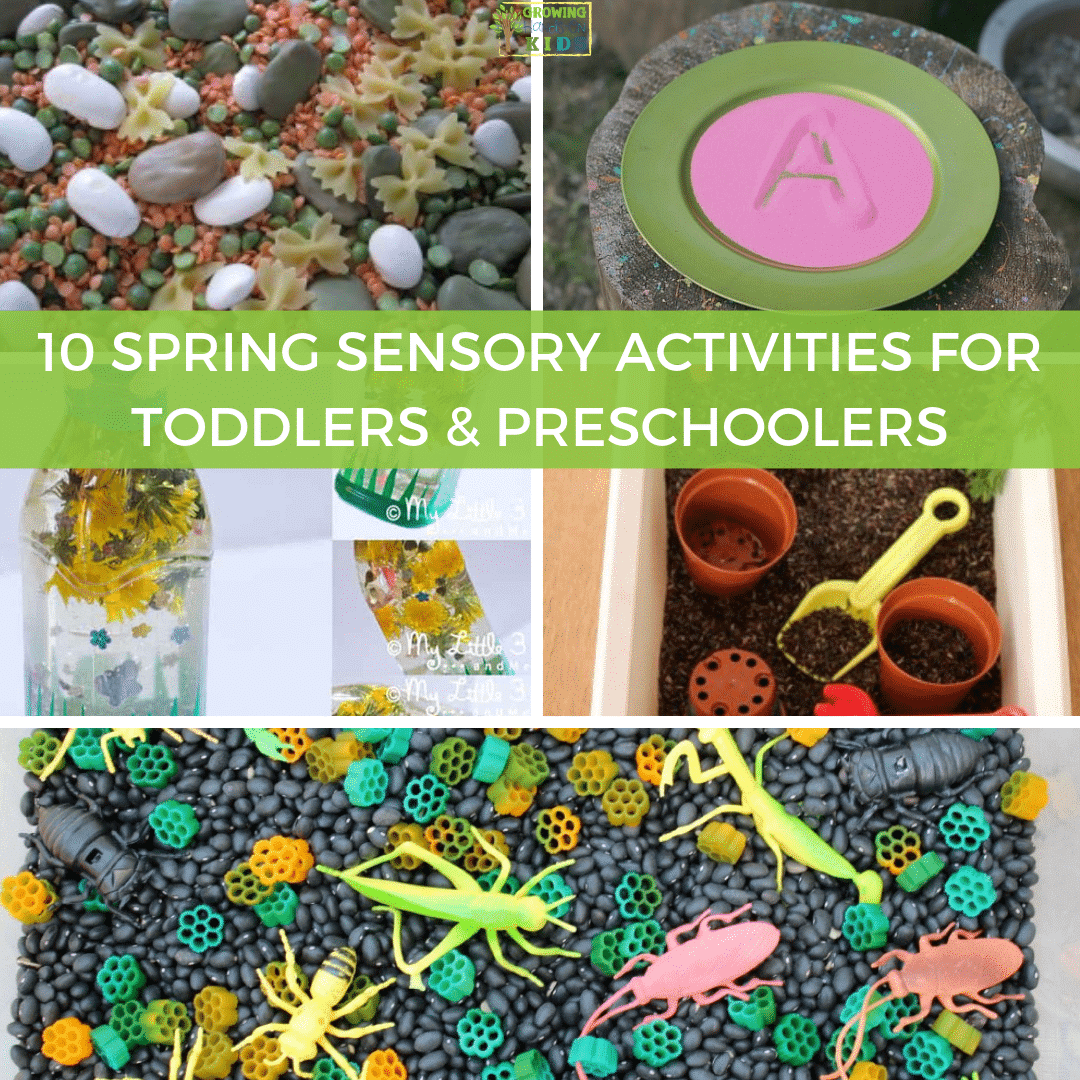 10 spring sensory activities for toddlers and preschoolers.