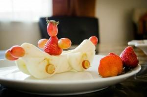 fruit race car snack