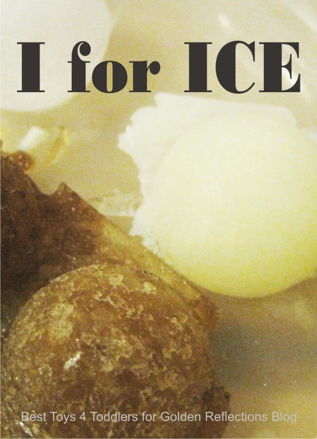 Ice sensory play for kids. www.GoldenReflectionsBlog.com