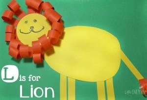 Lion craft for spring. www.GoldenReflectionsBlog.com