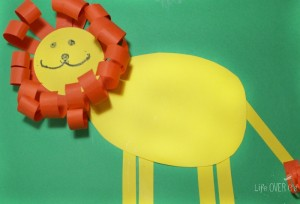 finished lion craft