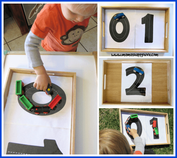 number road train track tot tray