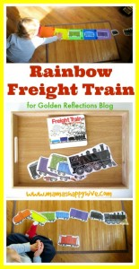 rainbow freight train tot tray