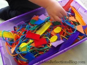 rainbow soft sensory bin