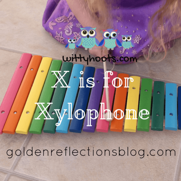 Xylophone sensory play ideas for kids. www.GoldenReflectionsBlog.com