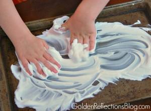 shaving cream sensory play for preschoolers