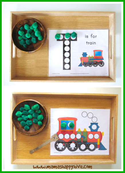 train pom pom transfer tot tray