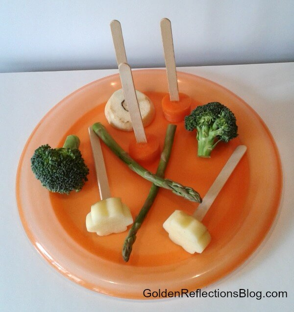 vegetable painting sensory play items