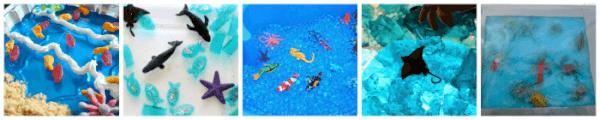 Beach and ocean themed sensory play ideas for kids