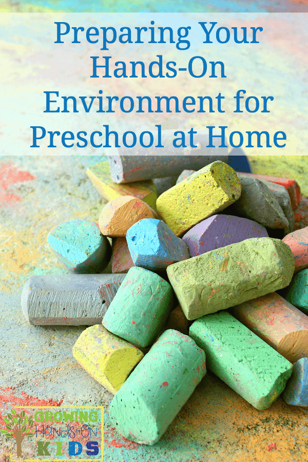 hands-on environment for preschool at home