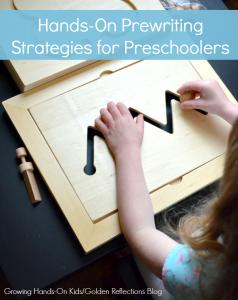 Fun, creative, hands-on prewriting strategies for preschoolers.