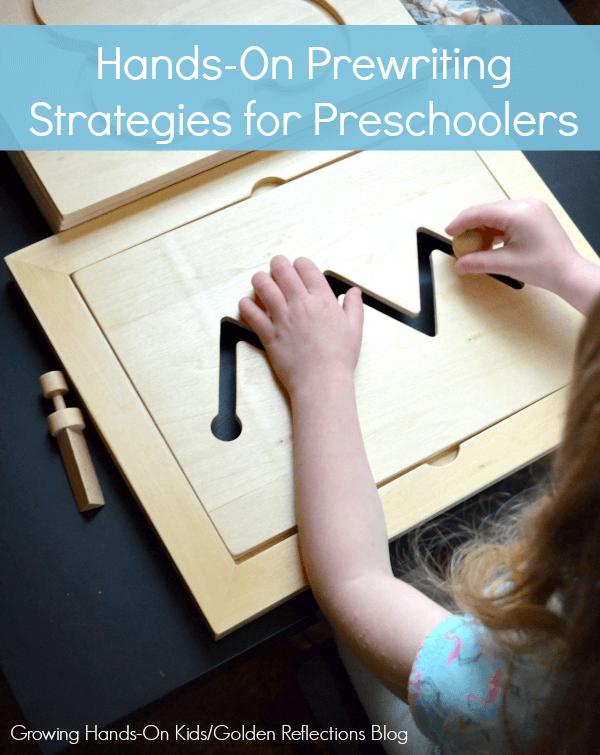 hands-on prewriting strategies for preschoolers