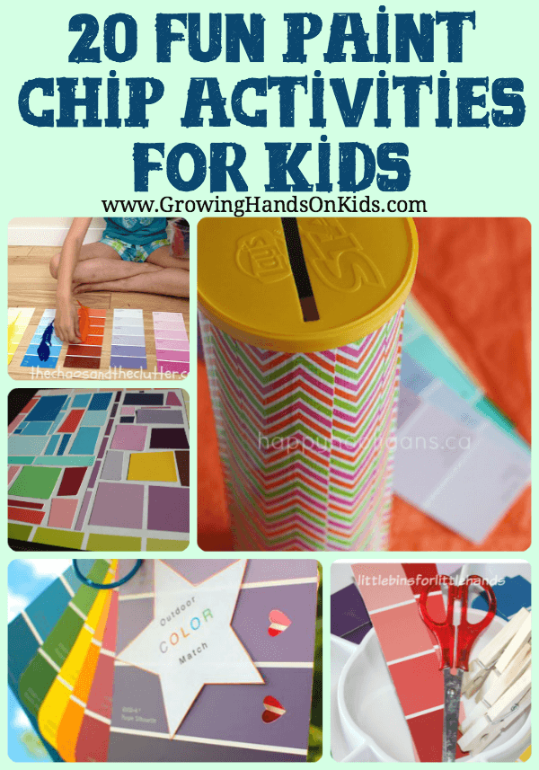 Paint Chip Activities For Children