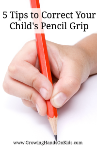 5 tips for correcting your child's pencil grip or grasp.