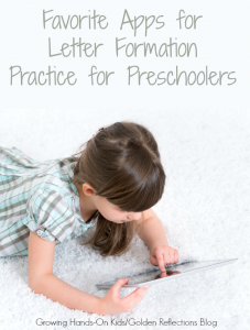 My favorite apps for letter formation practice for preschoolers.