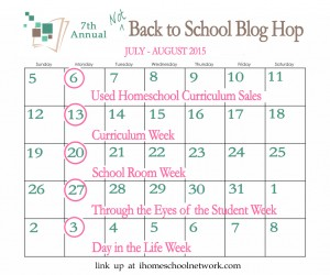 Not back to school bog hop iHomeschool Network.