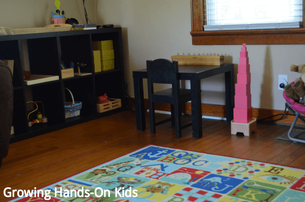 our montessori inspired tot-school space