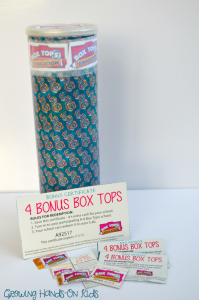 container for fine motor box top drop. Sponsored by General Mills.