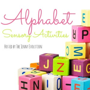 Alphabet sensory activities series.