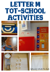 Letter M Activities for tot-school, kids ages 3-4.