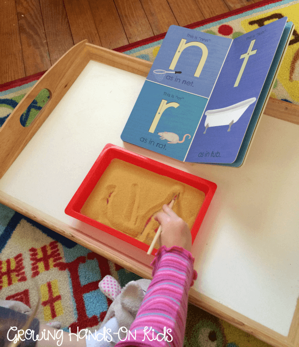 Letter T Activities Sand Tray Writing