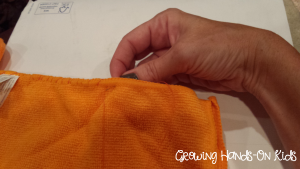 DIY weighted lap pad for sensory seeking kids.
