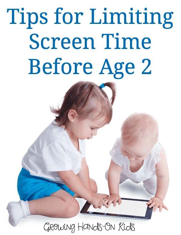 Tips to limiting screen time before age 2