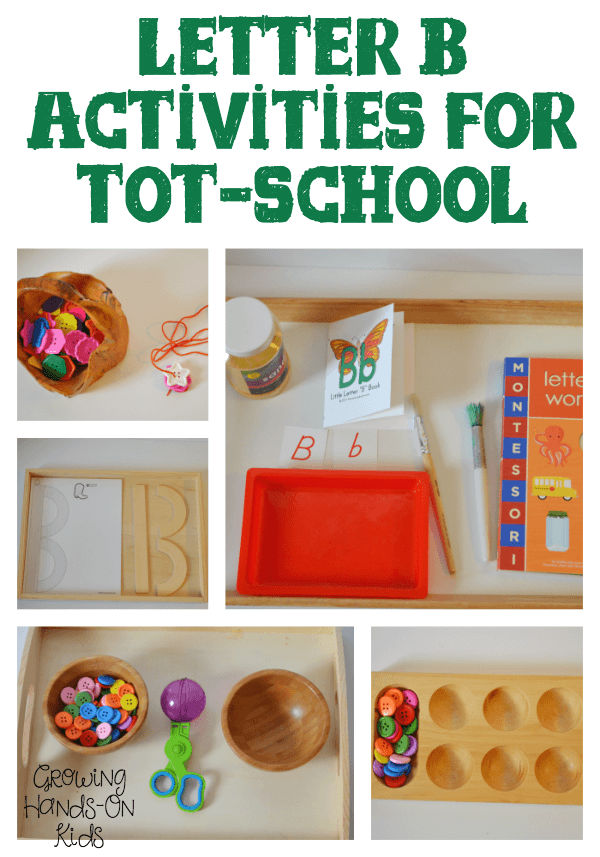 Letter B Activities for Tot School