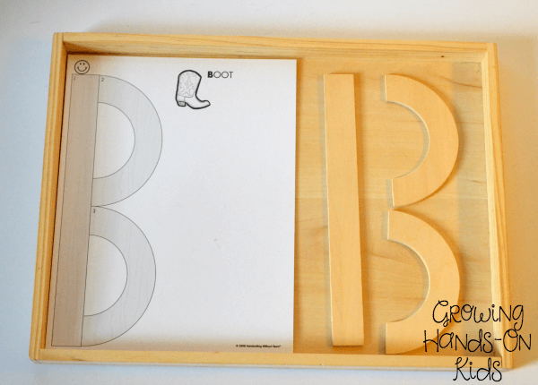 Capital letter B tray.