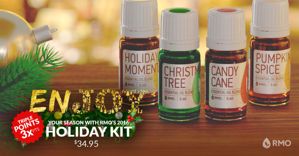Rocky Mountain Oils holiday kit.