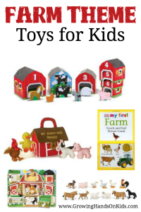 Fun and hands-on farm theme toy ideas for kids of all ages.