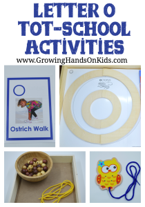 Letter O activities for tot-school, part of our letter of the week theme with Montessori inspired activities.