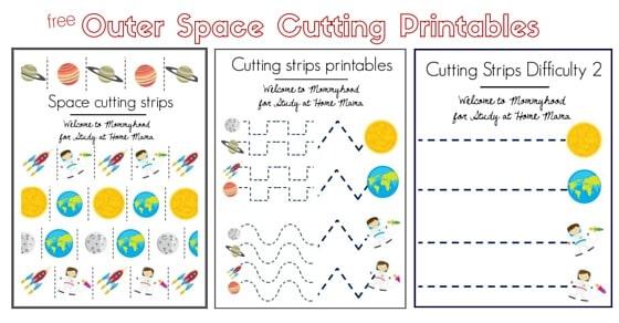 Outer Space Scissor Practice.