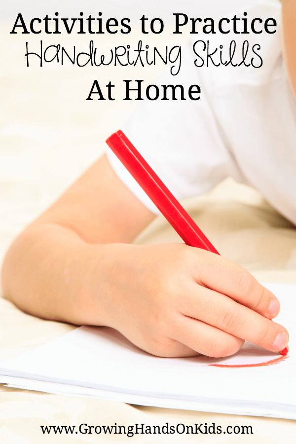 Activities To Practice Handwriting Skills At Home on Fine Motor Skills Activities For Kids