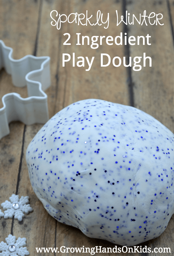 Sparkly winter two ingredient play-doh