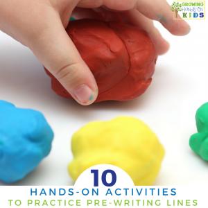 10 hands-on ways to practice pre-writing lines for preschoolers.