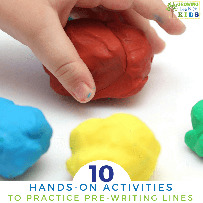 10 hands-on ways to practice pre-writing lines for preschoolers.