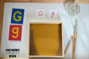 Letter G activities for tot-school and preschool.