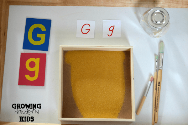 Letter G activities for tot-school and preschool.