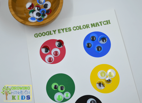 Googly Eyes Color Matching Activity