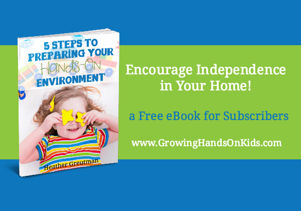 Preparing Your hands-On environment, encouraging independence, one activity at a time.