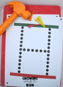 Letter H activities for tot-school, part of the Letter of the Week series.