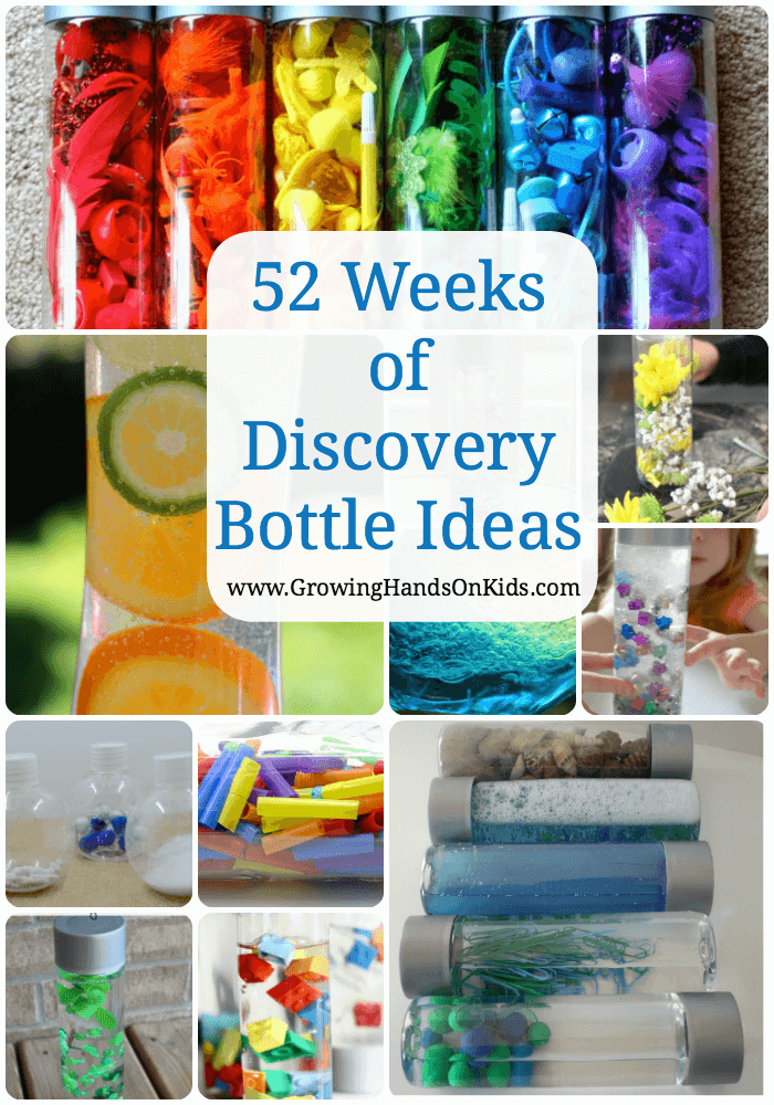 52 weeks of discovery bottles for kids