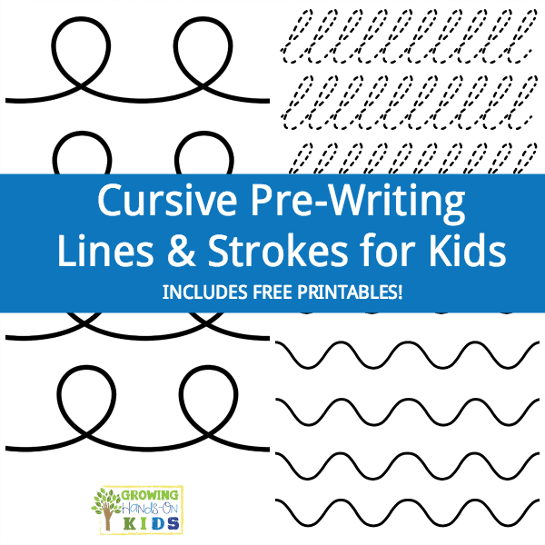 Cursive Pre Writing Lines And Strokes For Kids Free Printable