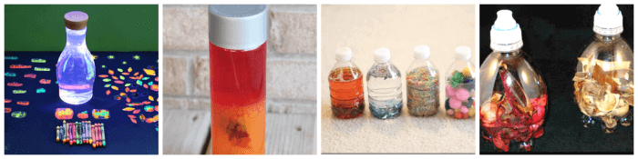 September discovery bottle ideas for kids.