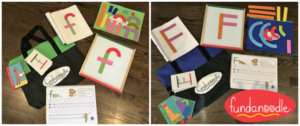 Letter fun kits for uppercase and lowercase letters from Fundanoodle.