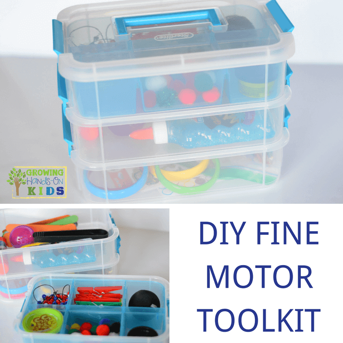 DIY Fine Motor Toolkit, perfect for home, classrooms, or therapy rooms.